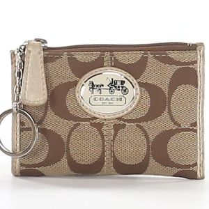 Coach Signature C Brown Coin / Key Holder